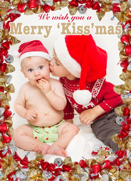 """Christmas Card, """"Kiss-mas"""" Card"""