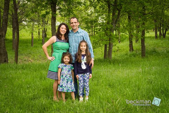 Family Portrait in Savannah, Texas during Spring
