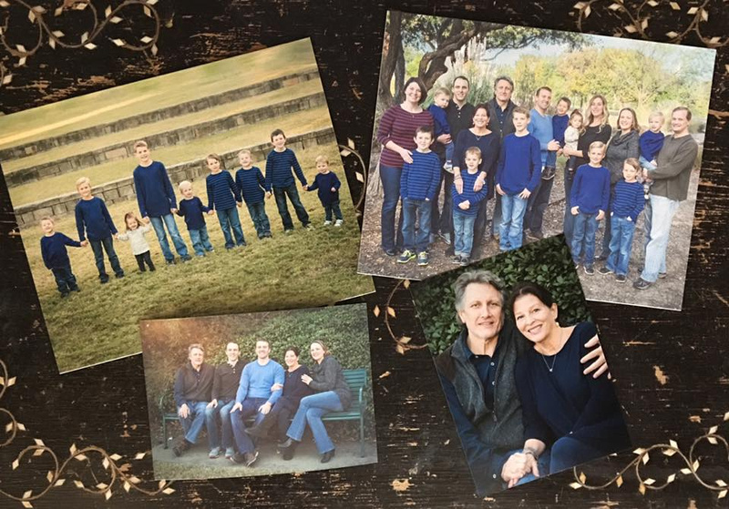 Printed wall art of extended family portrait photoshoot.
