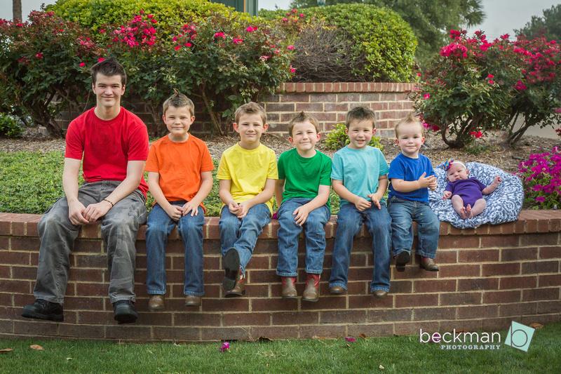 Rainbow Baby Family Portrait