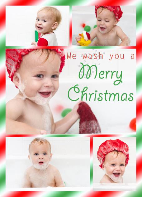 Christmas Card Bubble Bath